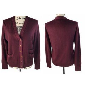 J.Crew 100% Merlino Wool Cardigan Sweater L